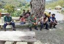Posramil 1714-06/Tinginambut Komsos dengan Warga Kampung Yongun Distrik Tingginambut