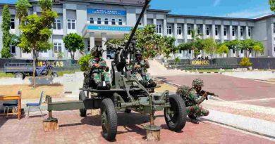 Penuh semangat,prajurit Komodo petarung Yonmarhanlan VII tampilkan kemampuan tempur pertahanan Udara