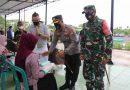 Dandim Ngawi Bersama Jajaran Forkopimda Hadiri Penyerahan Sembako Untuk Masyarakat Terdampak Covid 19