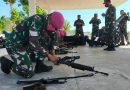 Prajurit Yonmarhanlan VII unjuk kemampuan dalam Uji Terampil Glagaspur Lantamal VII