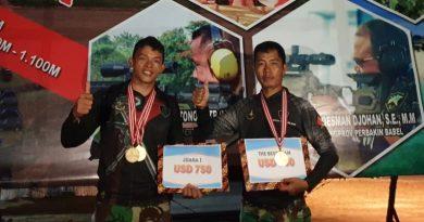 Prajurit Sat-81 Kopassus Juara Diajang Lomba Tembak 1st Indonesia International Long Range Shooting Grand Prix 2021 serie 2
