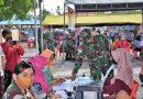 Gencarkan Program Pemerintah, Pangdam XVII/Cenderawasih Tinjau Langsung Serbuan Vaksinasi Di Kabupaten Keerom