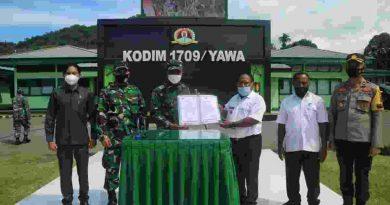 TMMD KE-112 TA. 2021 Kodim 1709/Yawa di Kampung Miosnum Resmi Bibuka
