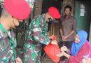 Setelah Terjun di Langit Gorda, Prajurit Grup 1 Kopassus bagikan sembako kepada masyarakat