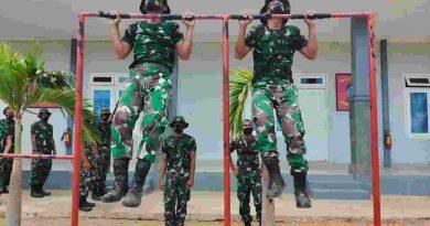 Tingkatkan Imunitas Tubuh Prajurit Komodo Petarung Laksanakan Pembinaan Fisik