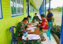 Sukseskan PON XX Papua,  Koramil 1705-02/Napan Pergencar Pelaksanaan Serbuan Vaksinasi Wilayah Binaan