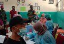 Babinsa 06/CP Pantau Prokes Vaksinasi di SMPN 118 Rawasari