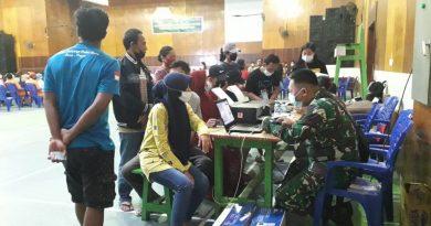Sukseskan PON XX Papua, Kodim 1709/Yawa Terus Lakukan Serbuan Vaksinasi di Yapen
