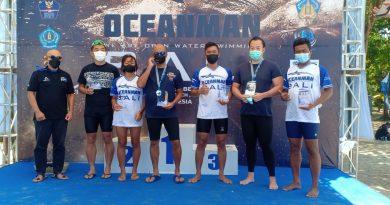 Marinir Juara I Lomba Renang 10 KM Oceanman Open Water Swimming 2021