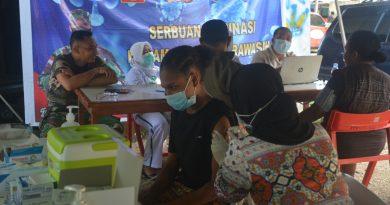 Pembukaan PON XX Semakin Dekat, Kodam XVII/Cenderawasih Gencarkan Vaksinasi Covid-19 Di Provinsi Papua