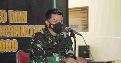Dandim 0802/Ponorogo Tutup Kegiatan OJT Peningkatan Kemampuan Teritorial Bintara Dikjurba Otsus TNI-AD TA. 2021